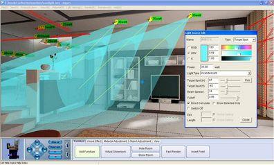 Program na vizualizáciu interieru
