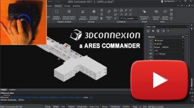 ARES Commander - plná podpora 3Dconnexion