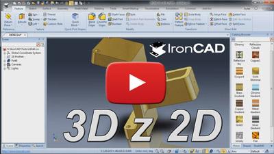 IRONCAD - 3D z 2D