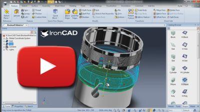 IronCAD Boolean funkcie