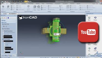 IRONCAD - Priame úpravy v zostave