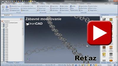 IRONCAD - Zábavné modelovanie - Reťaz