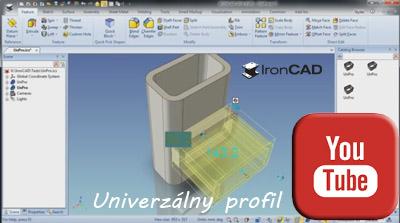 IRONCAD - Univerzálny profil